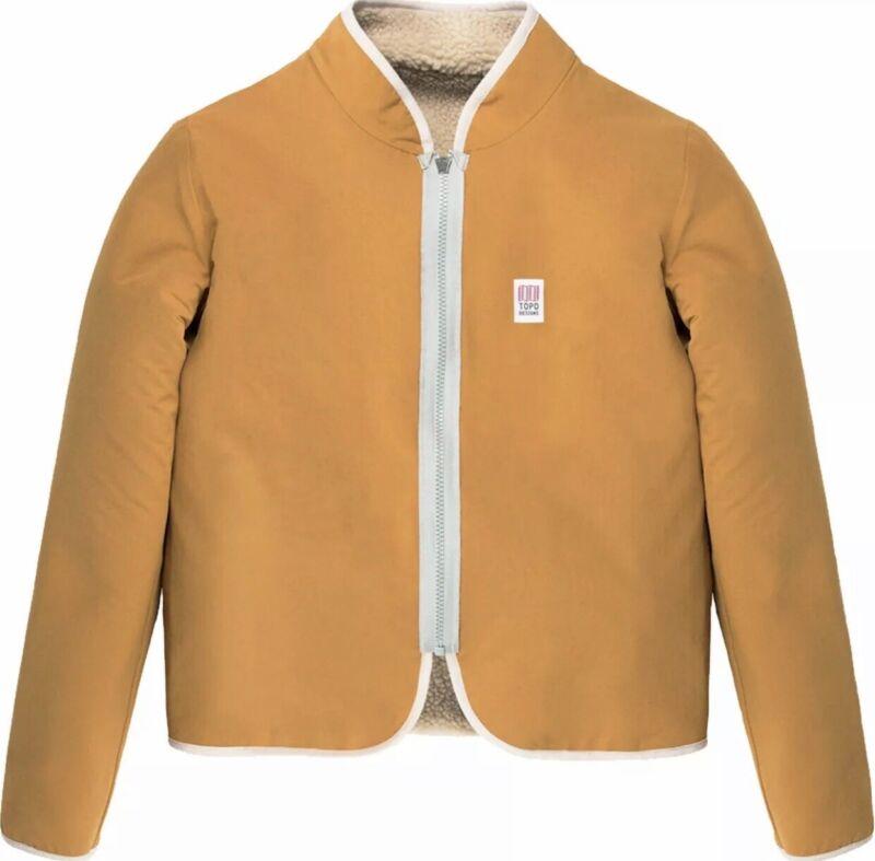 Topo Designs Sherpa Jacket for Women Natural/ Khaki Size Medium