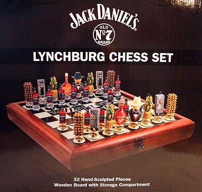 Jack Daniels Lynchburg Schach Set Neu Echte Rarität Old No.7 Brand 1A