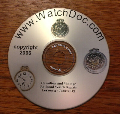 Vintage Hamilton Railroad Watch and 16 size American Watch Repair Manual