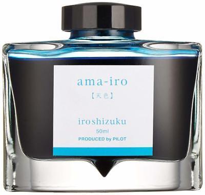 Pilot Iroshizuku Fountain Pen Ink - 50 ml Bottle - Ama-iro Sky Blue Color S-4333