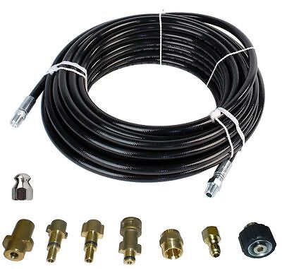 "Sewer Jetter Kit - 100' x 1/4 Hose and Nozzle, 2"" to 4"""