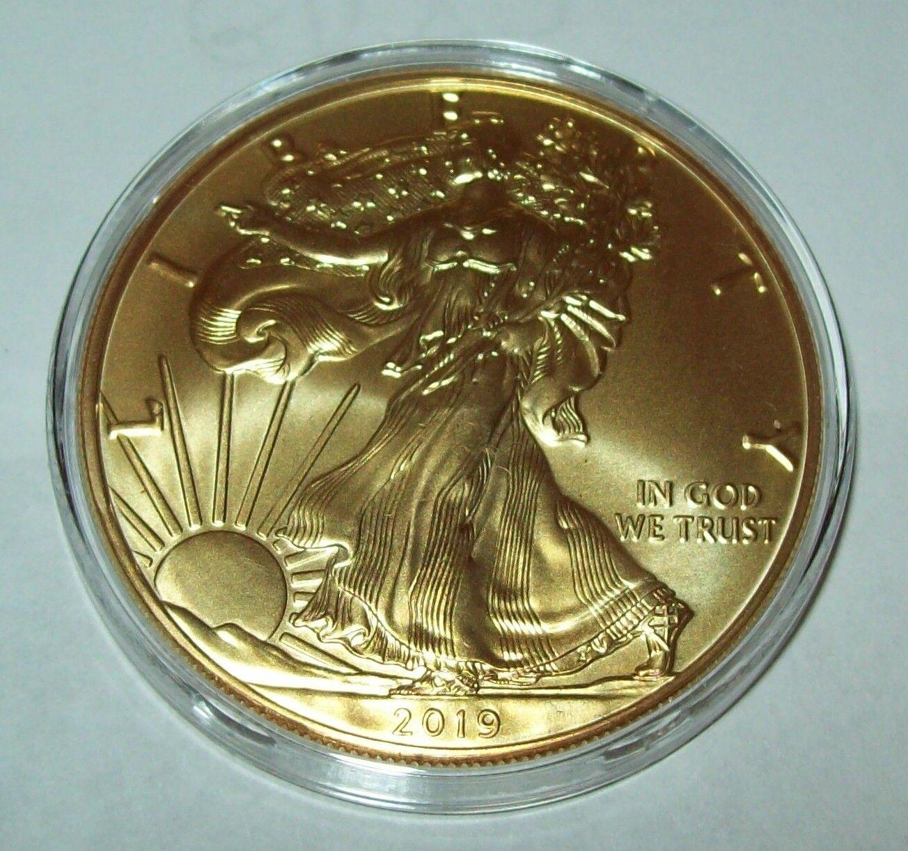 2019 Gold Gilded American Silver Eagle 1 Troy Oz. .999 Fine One Dollar Coin  - $78.00