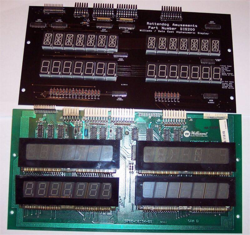 Brand New DIS200 Quad 7 Digit Display for Williams & Data East pinball machines