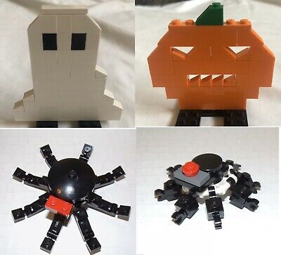 Halloween Lego Lot  - Ghost 40020 Jack O Lantern 40021-1 Spiders - All Retired
