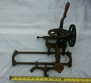 Vintage Hand Crank Grinder Sickle Bar Blade Sharpener