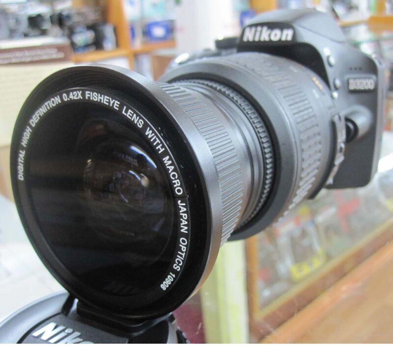 fisheye wide angle macro lens Hood for Nikon d5300 d3300 d7000 d3200 d40x d50