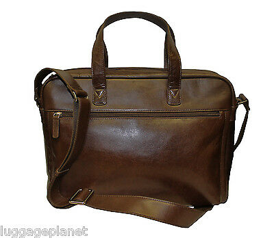 - iLi Leather Top Zip Slim Laptop Brief Bag  3215