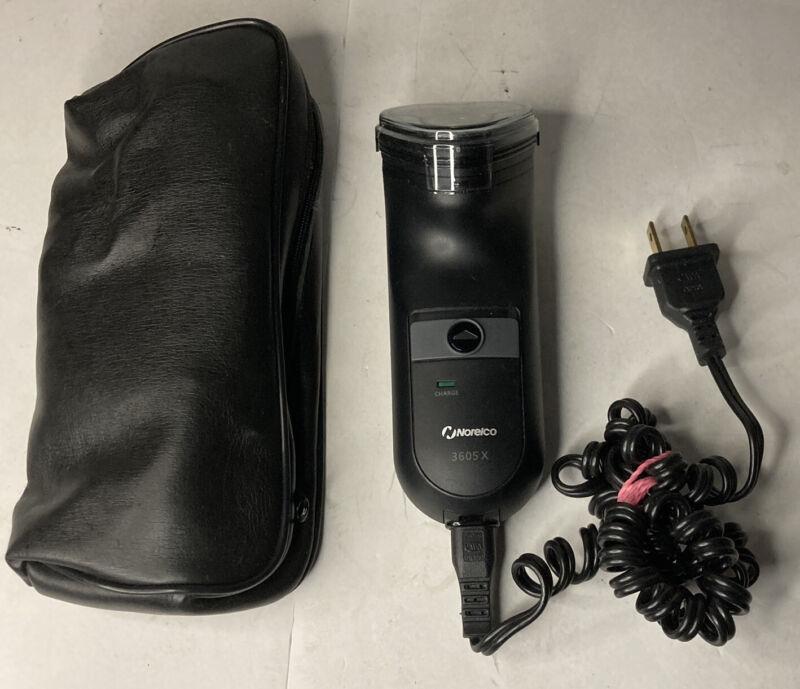 Norelco 3605x Razor With Case & Blade Cap