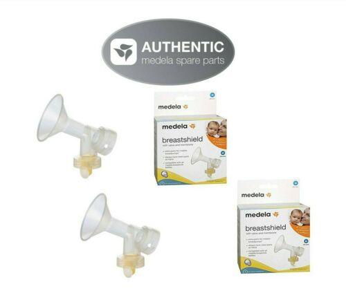 Authentic MEDELA ~ 24mm breastshield flange, connector, valve & membrane set 2