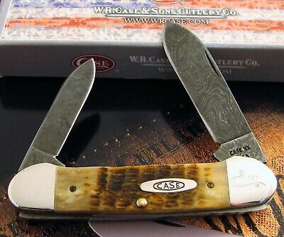 Case Damascus Canoe Knife 1989 From Centennial Mint Set ROG 62131 D Super! NR