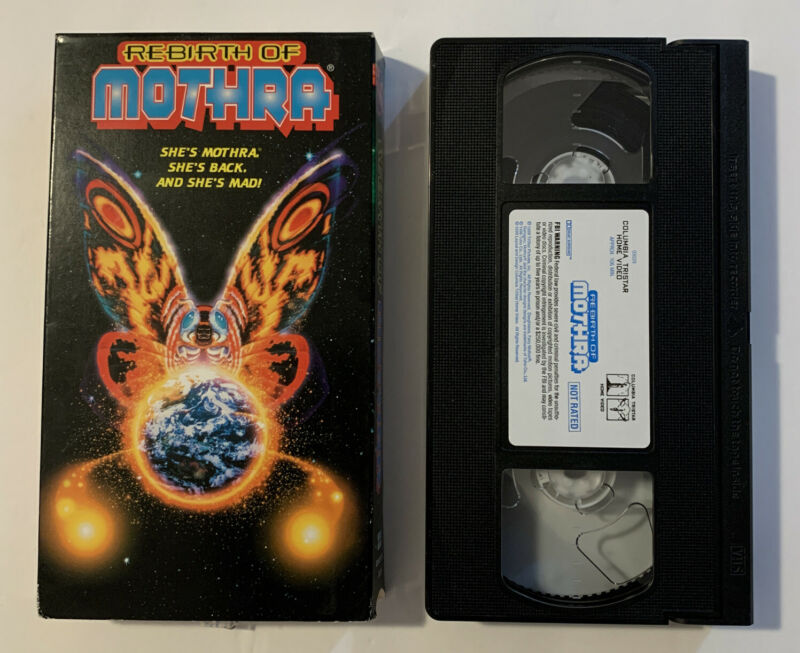 Rebirth of Mothra VHS Rare 1996 Kaiju Horror Godzilla