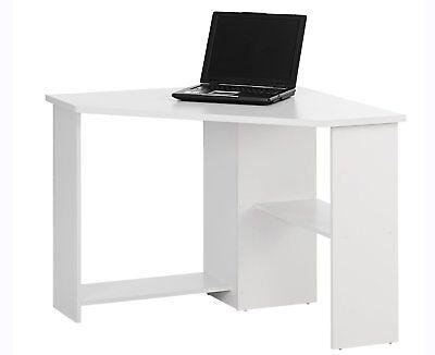 Corner Home Office Desk White Computer Workstation Function