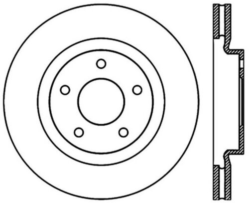 Disc Brake Rotor C Tek Standard Front Centric 121 63067