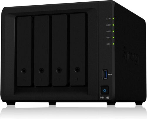 Synology DS918+ 8GB RAM 4 Bay NAS DiskStation with (2) 4TB Drives