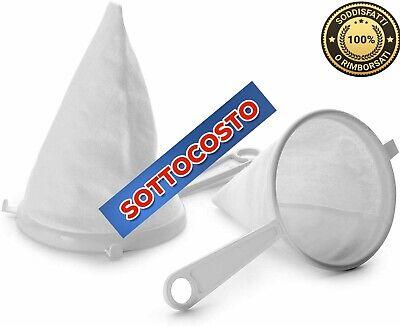 Colino Setaccio Passino In Tessuto Flanella Cucina Accessorio Diametro 12-14 cm