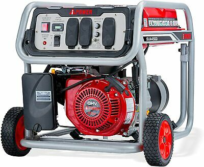 A-ipower 4500-w Portable Gas Powered Generator With Wheel Kit Home Rv Camping