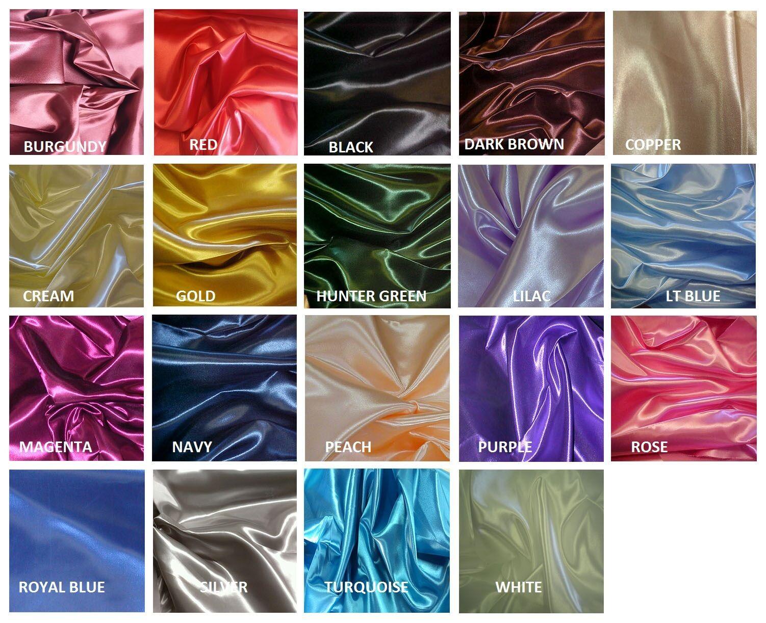 ❤️ Bridal Shiny Satin Curtain Drape Panel Backdrop apx 6
