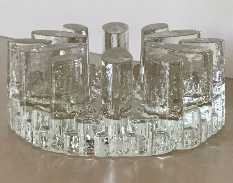 "Bel Mondo~Glasdesign~ Becker Design~Tea Light Warmer~6 1/8"" 4 Lbs.~ W. Germany"