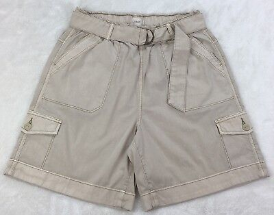 Jag Jeans Khaki Utility Walking Shorts Pull-On Cargo D-Ring Belt Stretch Size 6