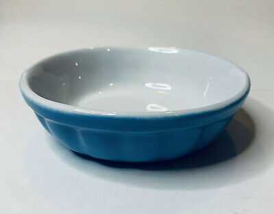 VALENTINA Souffle Gratin Baking Dish Round Blue Made in Italy