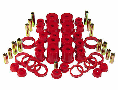 Prothane Complete Suspension Bushing Inserts Kit FOR 1984-2001 Jeep Cherokee RED