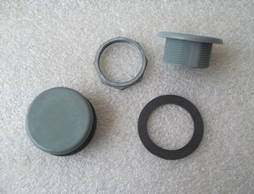 LOT of 2 ~ Schneider 9001K51 Round Gray Closing Plate Blanking Plug ~ SHIPS FREE