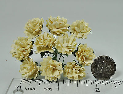 Mulberry Paper Flower Tiny Aster Cream handmade daisy for doll house decoration