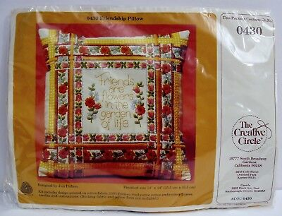 Creative Circle Friendship Pillow Stamped Crewel Embroidery Craft Kit Friends