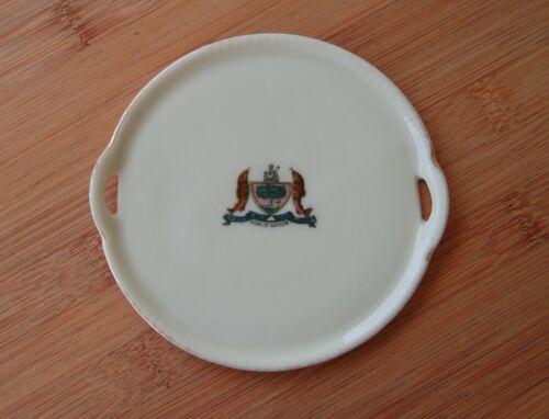 Glasgow Scotland Coat of Arms Dish Plate Porcelain Gemma Crest Ware Vintage
