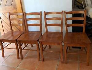 4 Dining Chairs Solid Wood Dining Chairs Gumtree Australia
