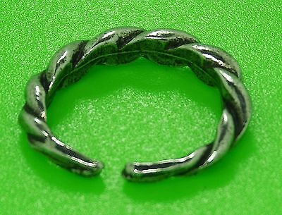 - Small Solid Pewter Adjustable Viking Twist Ring - Reenactment - Nordic  Ring
