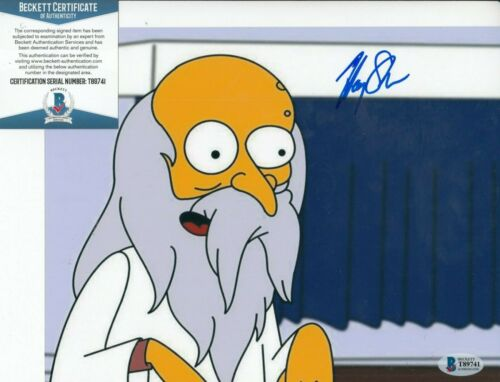HARRY SHEARER signed (THE SIMPSONS) Mr Burns 8x10 photo BECKETT BAS T89741