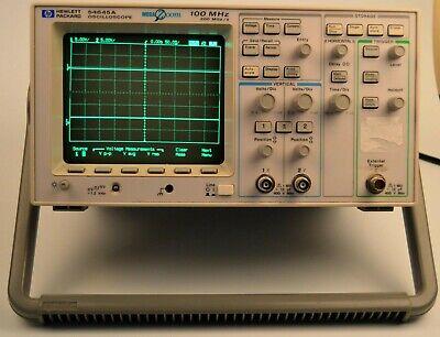 Hp 54645a Digital Storage Oscilloscope Works W Manual