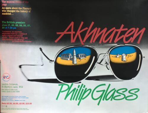 Philip Glass: Akhnaten - Original poster from 1985 British premiere