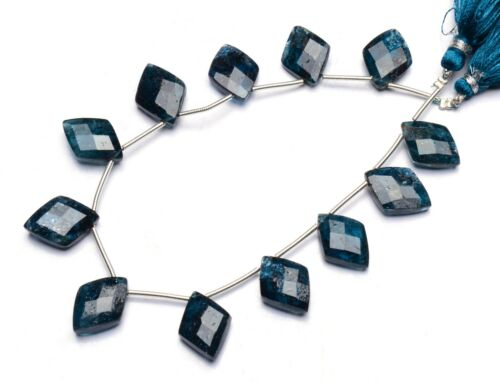 """Imperial Kyanite Natural Gem 16x10mm Size Faceted Fancy Shape Beads 9"""" 109Cts."""