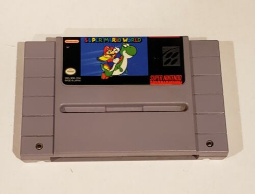 Super Mario World Super Nintendo SNES, 1992 Authentic Cart Cleaned Tested - $23.40