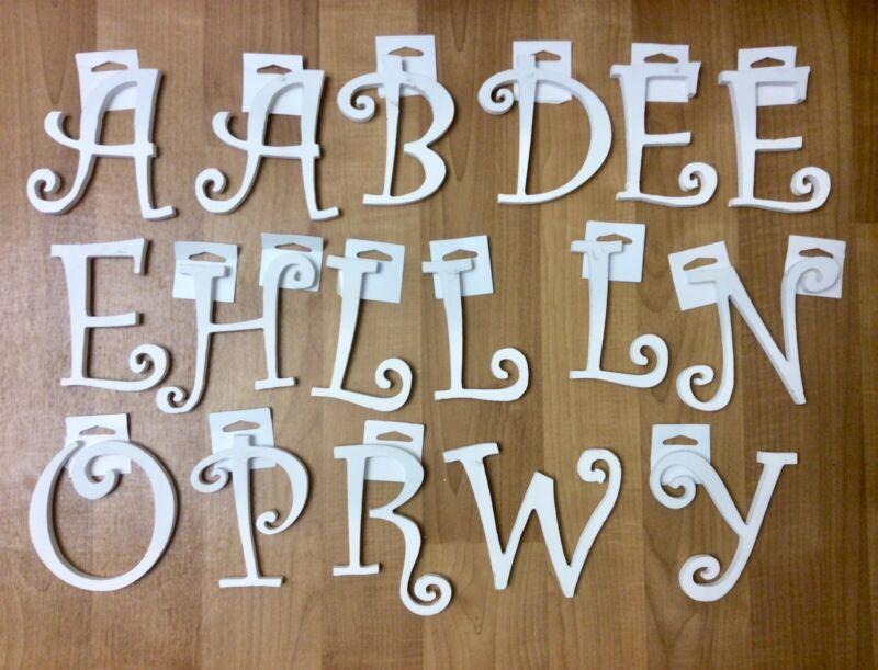 Decorative Random White Wooden Letters