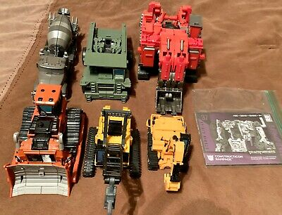 Transformers Studio Series rotf Devastator Complete Set Scavenger Scrapper 7 Lot