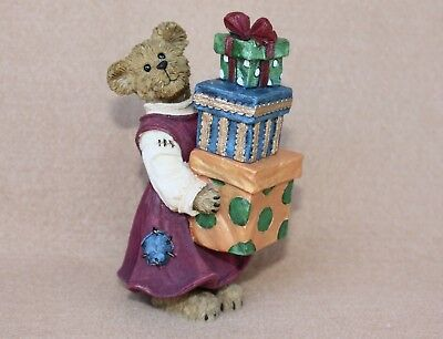 Boyds Bears Christmas Resin Mandy B Givingifts...Someones Lucky Day Ret NIB 1E