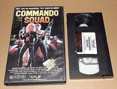 Commando Squad Vhs Kathy Shower Sid Haig Trans World Entertainment Transworld
