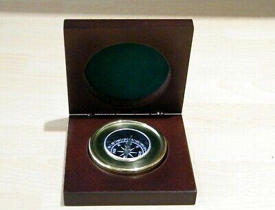 Brass Compass in Wooden Presentation Box