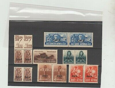 South West Africa WWII War Effort Various O'prints MLH, pair with labels Mint