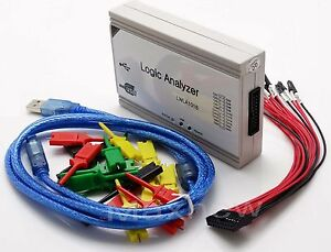 100MHz 16CH,250MHz 8CH PC USB Logic Analyzer support I2C SPI UART and PWM