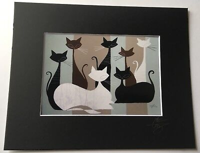 EL GATO GOMEZ RETRO VINTAGE MID CENTURY MODERN EAMES ABSTRACT BLACK CATS 1950'S