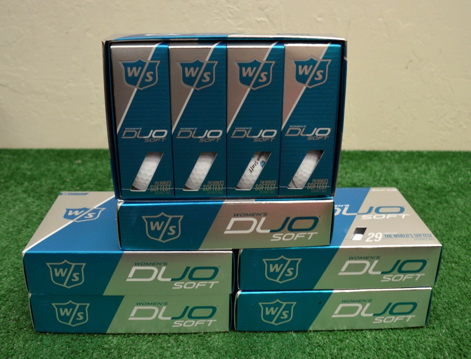 6 Dozen Wilson Staff Duo Soft Women's - Matte White Golf Bal