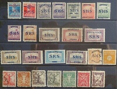 Croatia. A collection of early pre-Yugoslavia stamps