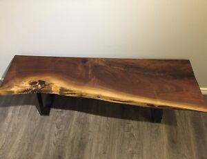 Black Walnut Live Edge Bench
