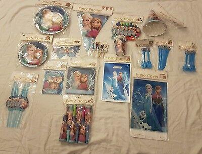 Mega Party Dekoration Set Elsa Frozen die Eiskönigin 147 tlg. Kindergeburtstag  ()