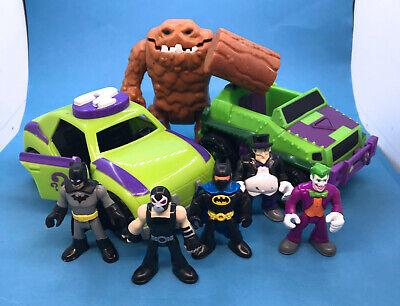 DC Super Friends Heroes Lot IMAGINEXT Joker Bane Clayface Batman vilains
