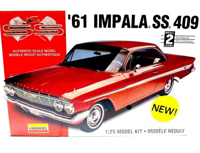 61 Impala For Sale >> Details About 1961 61 Impala Ss 409 Lindberg 1 25 72163 Model Kit Factory Sealed